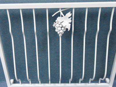 custom built balustrade with grape bunch detail
